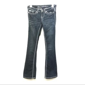 Blue Asphalt low rise flare jean